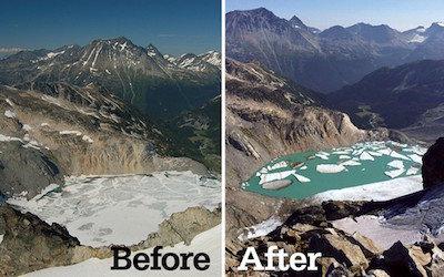 climate change evidence melting glaciers