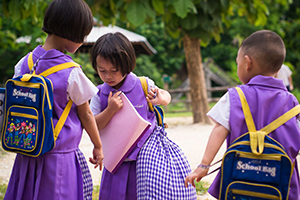 Uniforms and school bags