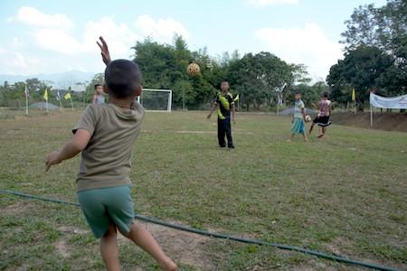 children's homes soccer field