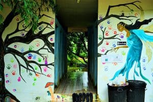 children's homes mural