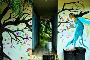 children's homes mural