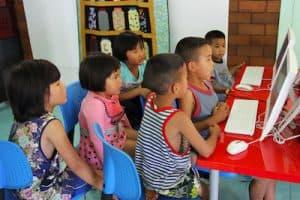 disadvantaged children - computer center