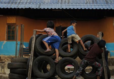 children's homes play yard