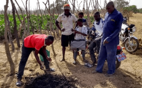 Biochar Paga farmers teaching farmers