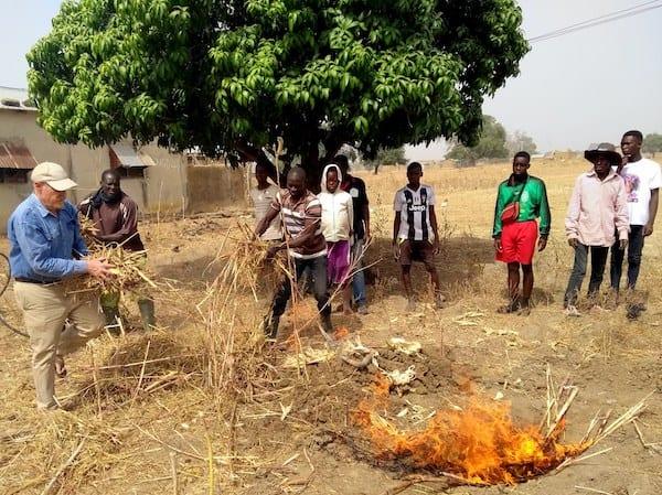 Biochar Paga trench burn
