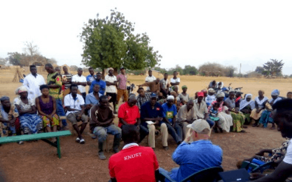 Biochar Paga Village Meeting