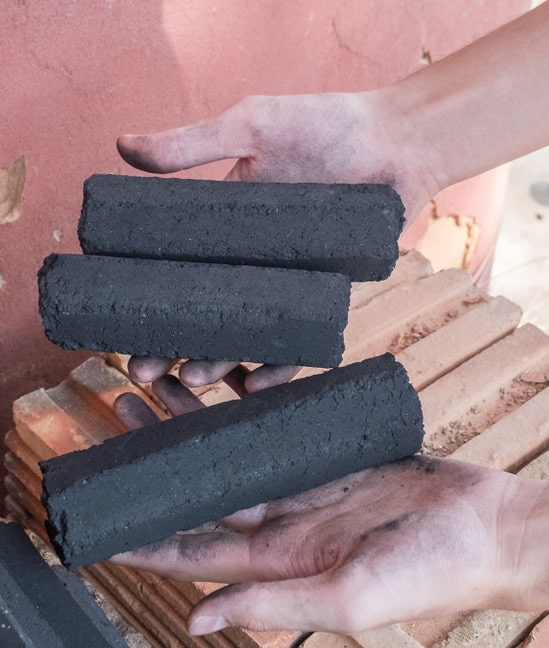 This image has an empty alt attribute; its file name is Biochar-Briquettes.jpeg